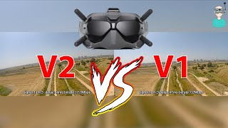 DJI FPV Goggles V2 Vs V1 - Side By Side Comparison