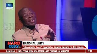 I Can't Appoint Or Impose Anyone On The Senate - Adams Oshiomhole  Hard Copy 