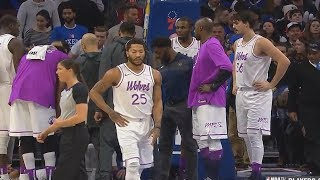 Derrick Rose Can't Watch After Tyus Injury & Walks Away While Entire Timberwolves Teammates Stay!