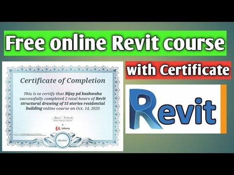 Revit free online course with certificate | Free Revit Courses | Best ...