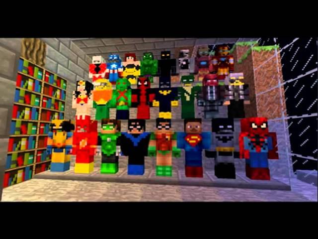 Minecraft Skins Super Heróis Top Minecraft Skins For Hd - Skin para minecraft pe do authenticgames