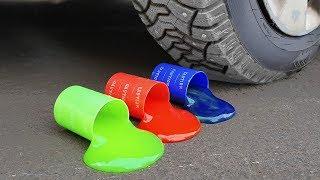 Experiment: Car Vs Slime - YouTube