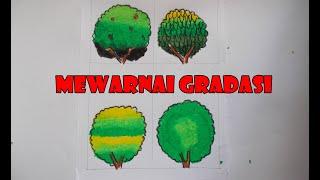 Cara Mewarnai Gradasi Pohon 123vid
