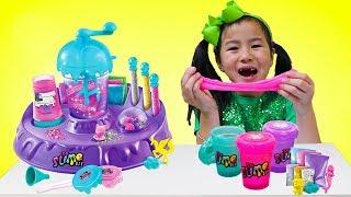 Jannie Pretend Play Making Satisfying Colorful Clear DIY Slime