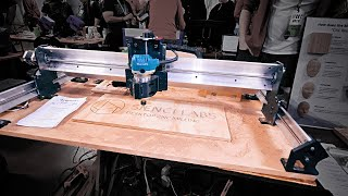 Sienci Lab's new long, budget CNC router! #MRRF2019
