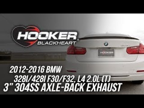 2012-2016 BMW 328i/428i F30/F32, l4 2.0L - Hooker Blackheart Axle-Back Exhaust BH8306