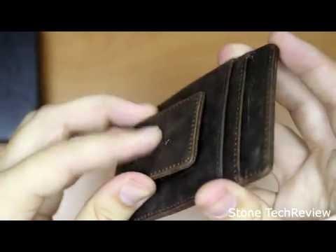 Unboxing Leder Geldscheinklammer RFID Ausweisetui Kreditkartenetui PORTEMONNAIE Kreditkartenhülle