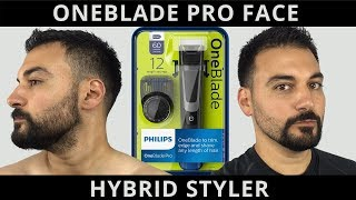 Beard Trimming - Philips Norelco Oneblade Pro Face Hybrid Styler - Model QP6510