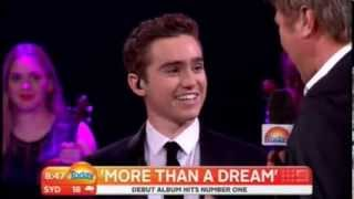 Harrison Craig on the Today show -  singing Unchained Melody