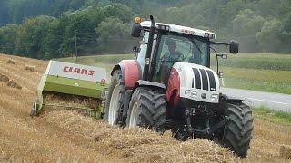 Lohnmaschinen Gölles - Ballen Pressen - Steyr CVT 6230 - Claas Markant 65