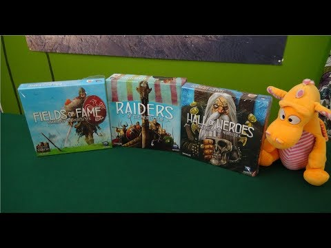 Raiders of the North Sea: Fields of Fame + Hall of Heroes Expansions - Unboxing