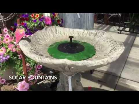 Solar Lily Pad Fountains