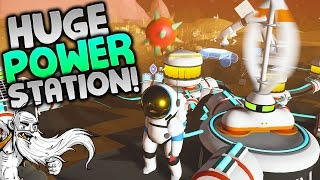 """Astroneer Gameplay - """"HUGE WIND TURBINE POWER STATION!!!"""" -  Walkthrough Let"""