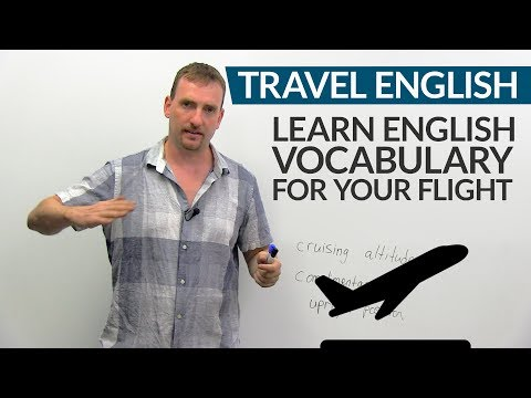 ✈ TRAVEL ENGLISH: Vocabulary & expressions for your flight ✈️