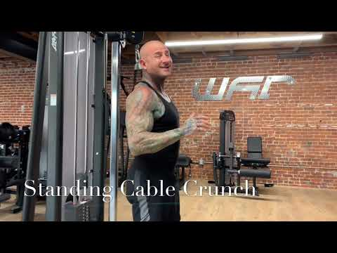 Cable Standing Crunch