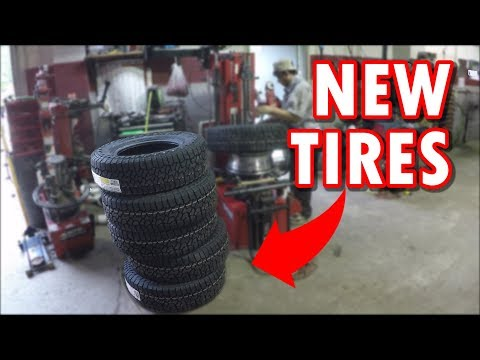 New Tires On The Ford F350 Superduty Dually