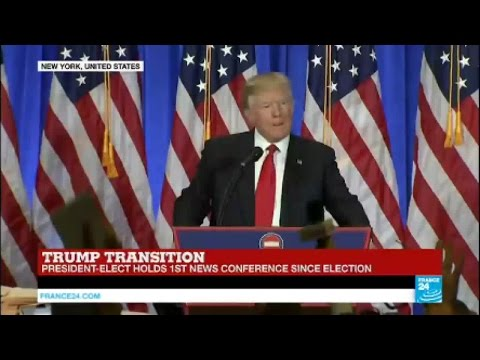 US - Watch the 2nd part of President-Elect Donald Trump's first press conference since election