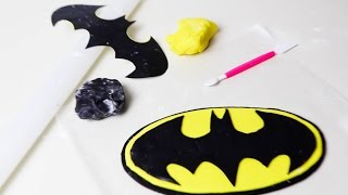 Fondant BATMAN Logo (For Batman CAKE!)