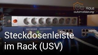 Steckdosenleiste im Rack + USV | haus-automatisierung.com [4K]