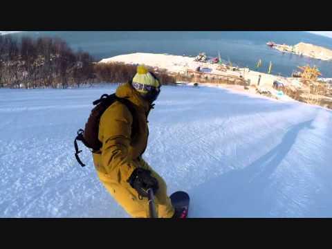Видео: Видео горнолыжного курорта Красная Сопка в Камчатский край