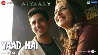 Yaad Hai - Song Video - Aiyaary