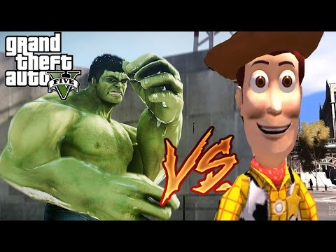 SHERIFF WOODY VS HULK IN GTA 4 | Toy Story Battle Awesome Epic Funny