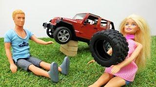 Барби и Кен едут на пикник с друзьями. Видео для девочек
