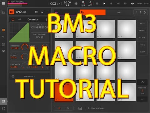 Beatmaker 3 - How To Set Up, Use & Assign Macros - Tutorial