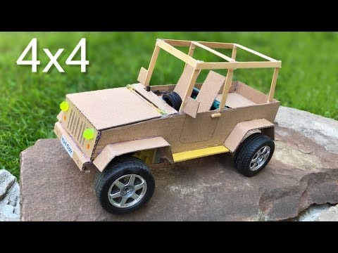 How To Make RC Car (Jeep Wrangler) - DIY Realistic Cardboard Car