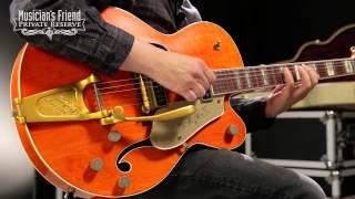 Gretsch Guitars Custom Shop 6120 DSW '55 Relic Electric Guitar Orange