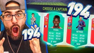 OMG 194 DRAFT! EPIC HIGHEST RATED FIFA 18 Ultimate Team