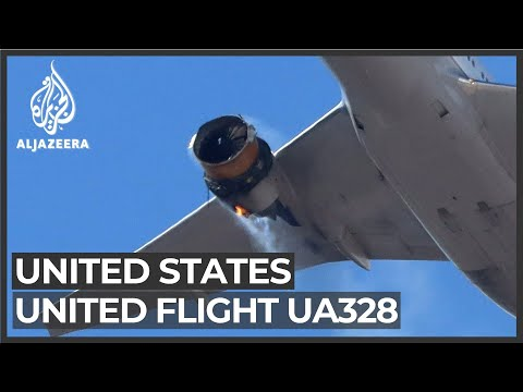 Download US flight UA328 lands safely in Denver following engine failure Mp4 HD Video and MP3
