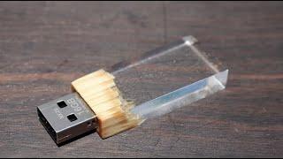 木とレジンのUSBメモリの作り方 How to make wood and epoxy USB memory.