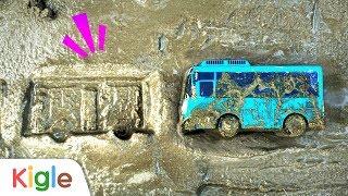 시멘트에 빠졌어요! | 시멘트에 낙서하다 빠져버린 타요! | 타요 슈퍼구조대 03화 | 꼬마버스 타요 | 키글TV