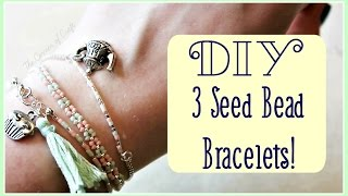 DIY 3 Stackable Seed Bead Bracelets // Jewellery Making //  ¦ The Corner Of Craft