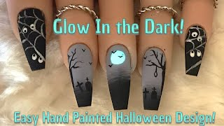 Easy Hand Painted Halloween Nails | Nail Sugar