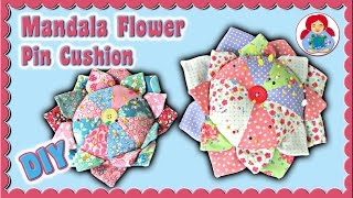 DIY | Mandala Flower Pin Cushion FREE PATTERN DOWNLOAD | Sami Doll Tutorials