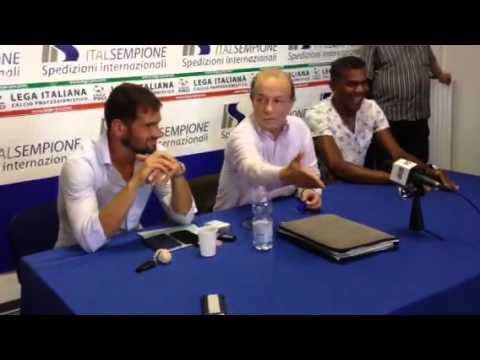 Vavassori presenta Oliveira nuovo allenatore della Pro Patria