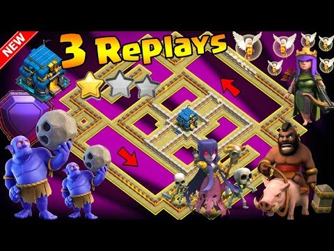 TH12 WAR BASE 2018 ANTI 2 STAR With 2 Replays Anti BoWitch