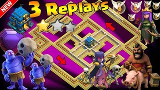 NEW UPDATE TH12 WAR BASE 2018 Anti 2 Star With 💥3 Replays Anti BoWitch,Electro Dragon,Queen Walk