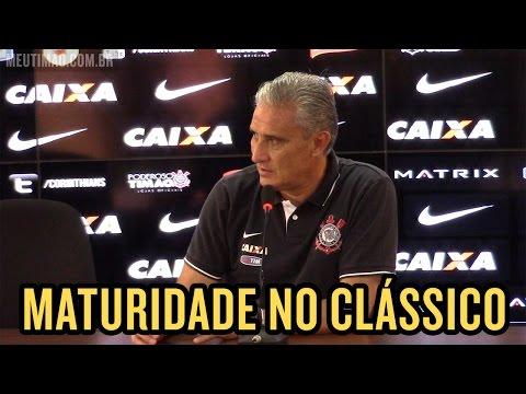 Tite fala sobre Clássico Corinthians X Santos no próximo domingo 04/04, na Arena Corinthians
