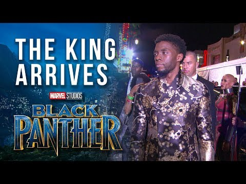 The King Arrives --  Chadwick Boseman at Marvel Studios' Black Panther World Premiere Red Carpet