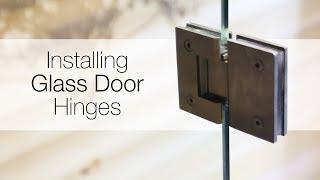 How to install glass door hinges