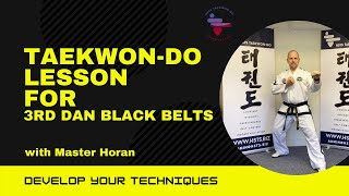 Black belt 3rd Dan patterns