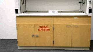 6′ Fisher Hamilton Laboratory Fume Hood with Epoxy Tops Base Cabinets