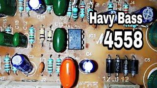 How to increase Bass using 4558 ic | 4558 ic bass circuit | 2n3055 | 4440 ic board | 2sc5200 |