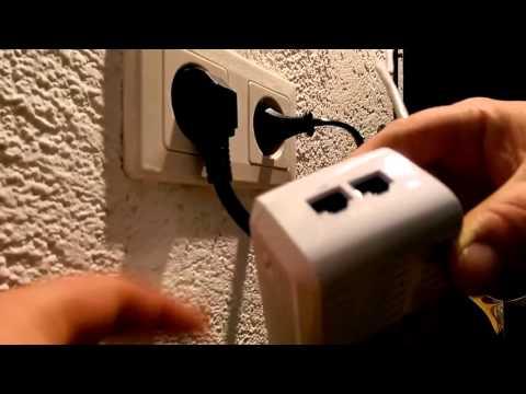Unboxing & How To Deutsch Tenda P1002P KIT AV1000 Powerline-Netzwerkadapter