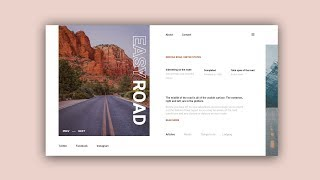 Web Design Speed Art #35 – Minimal Easy Road Website [Adobe XD]