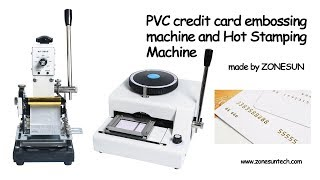 How to use the  PVC credit card embossing machine and Hot Stamping Machine For PVC Card