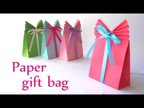 DIY crafts: Paper GIFT BAG (Easy) – Innova Crafts